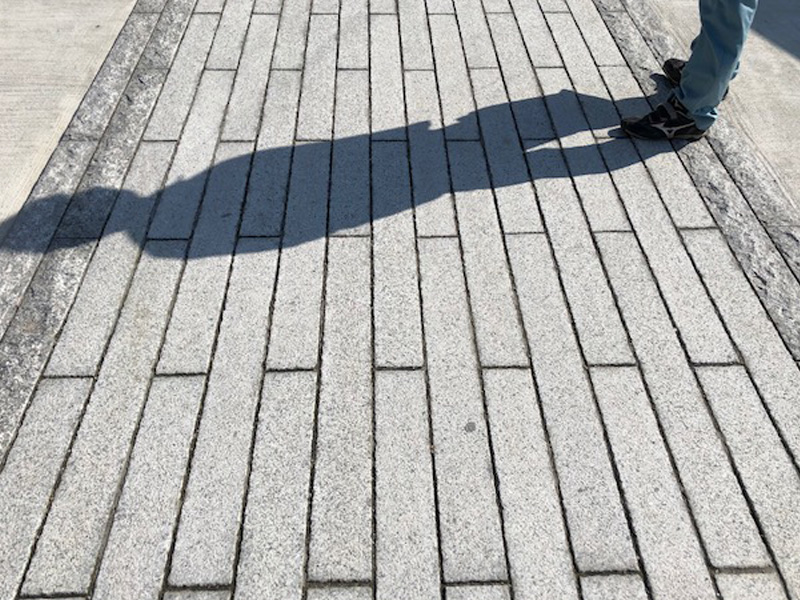 石の遊歩道